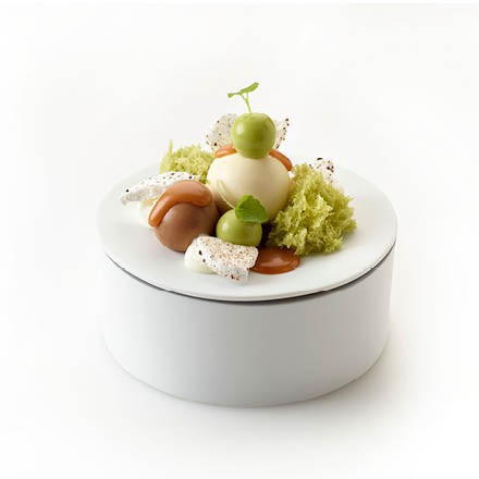 Tapa Dessert with a green touch
